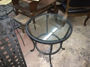 GLASS & IRON TABLE