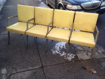 MID CENTURY 4 CHAIRS TOGETHER