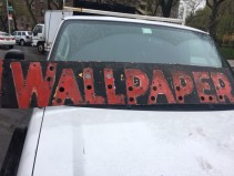 NEON WALLPAPER METAL SIGN