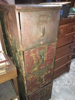 SPRIPPED OLD FILE CABINET