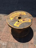 INDUSTRIAL SPOOL COFFEE TABLE
