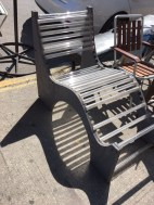 OUTDOOR LUCITE LOUNGE CHAIR
