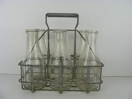 Wire rack for milk bottles in Old Brooklyn photos