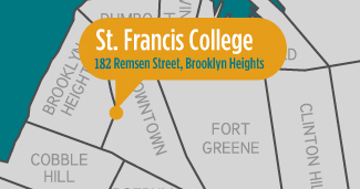 St Francis College Map - Summer Junior English camp in New York