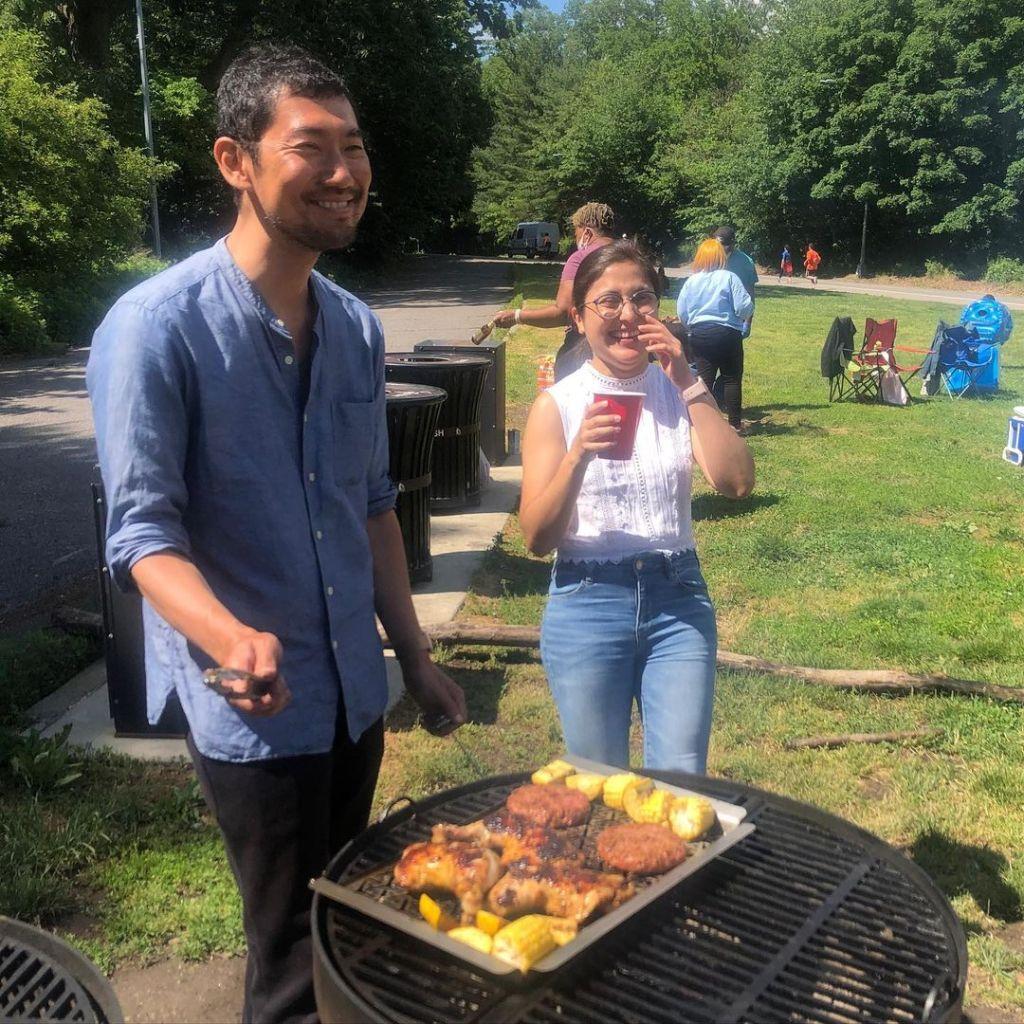 Memorial Day barbecue in Prospect Park