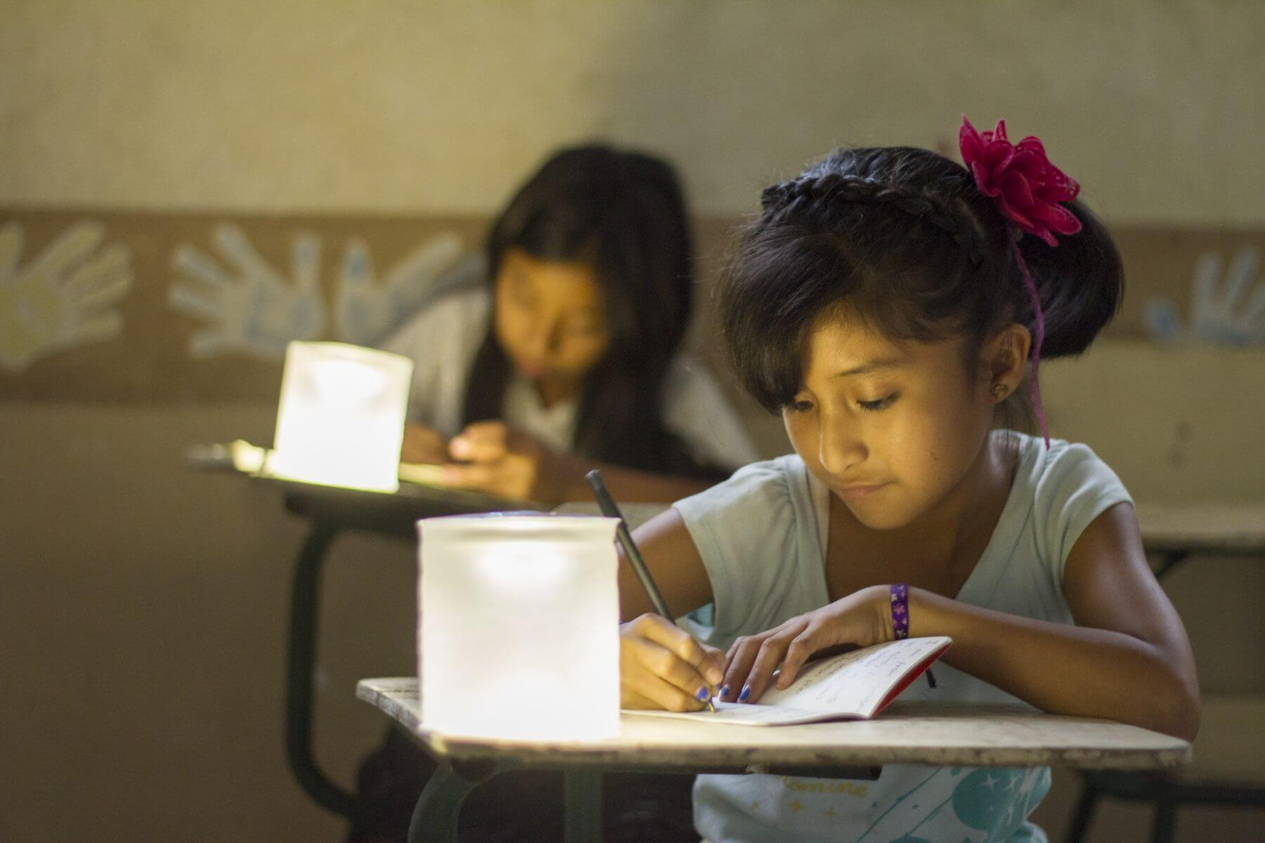 spreading solar lights to students in Guatemala