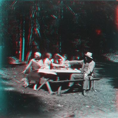 """Box01S08 - """"Déjeuner au Lac vert - pres Chamonix 1928"""""""