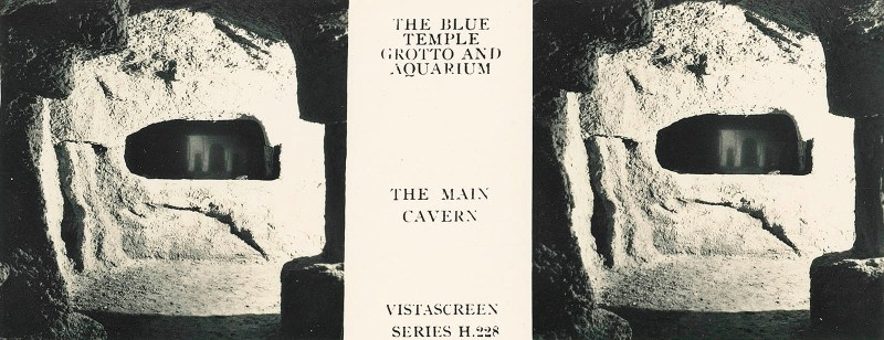 "The ""main cavern"" of the Blue Grotto Aquarium."