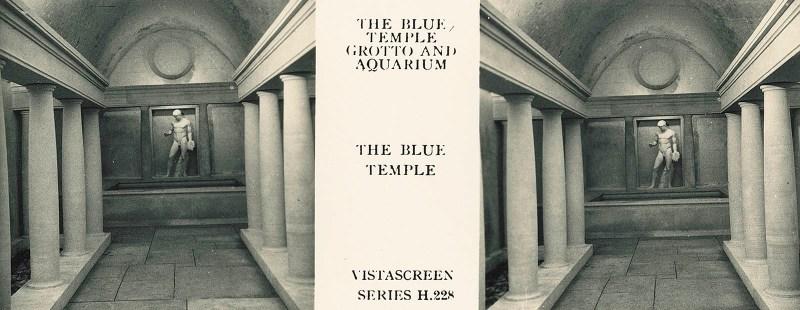 """The Blue Temple"", apparently an atrium to the Blue Grotto Aquarium."