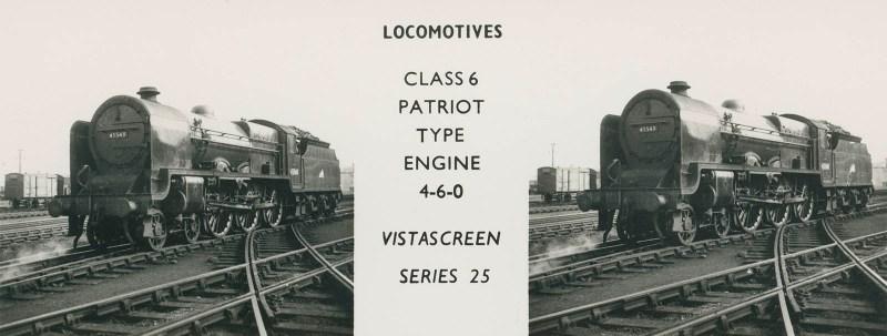 "VistaScreen Series 25 ""Locomotives"" - ""Class 6 Patriot Type Engine 4-6-0"""