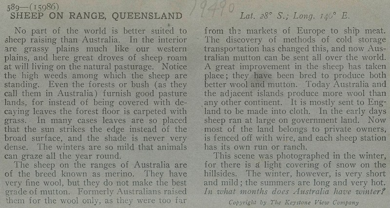 Verso text for seventh KVC view of Australia