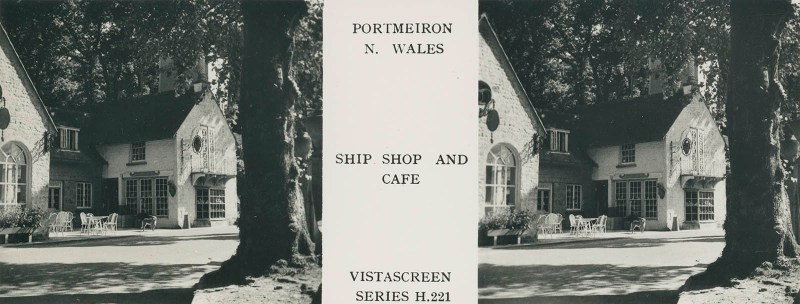 VistaScreen's view of the Ship Shop and Cafe in Portmeirion