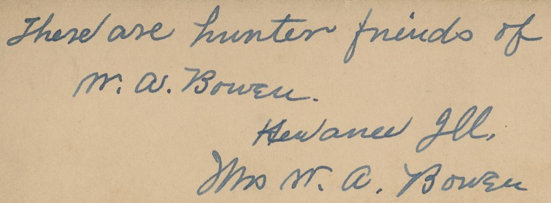Verso of previous card from Strasburg Antique Mall