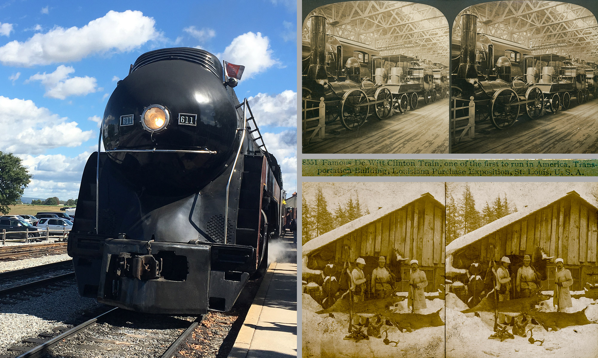 Strasburg, PA: Went for the trains. Came back with stereoviews & a scythe.