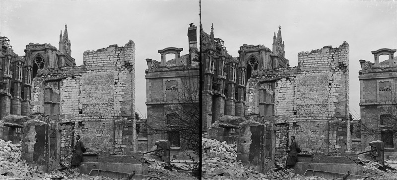 Stereoview (stereoscopic image) for a blog post on Remembrance Day 2019