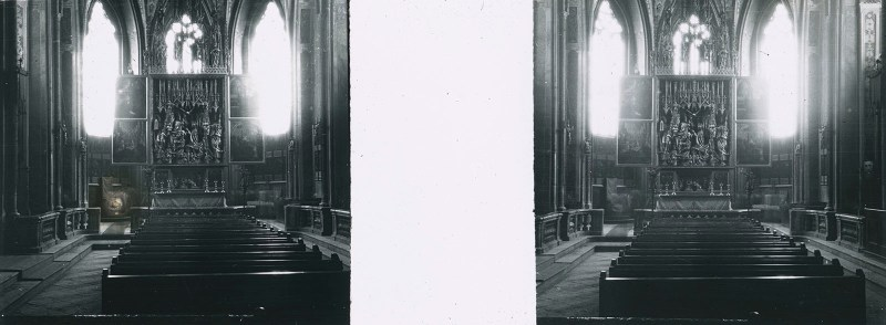 Random European Glass Stereoview #18