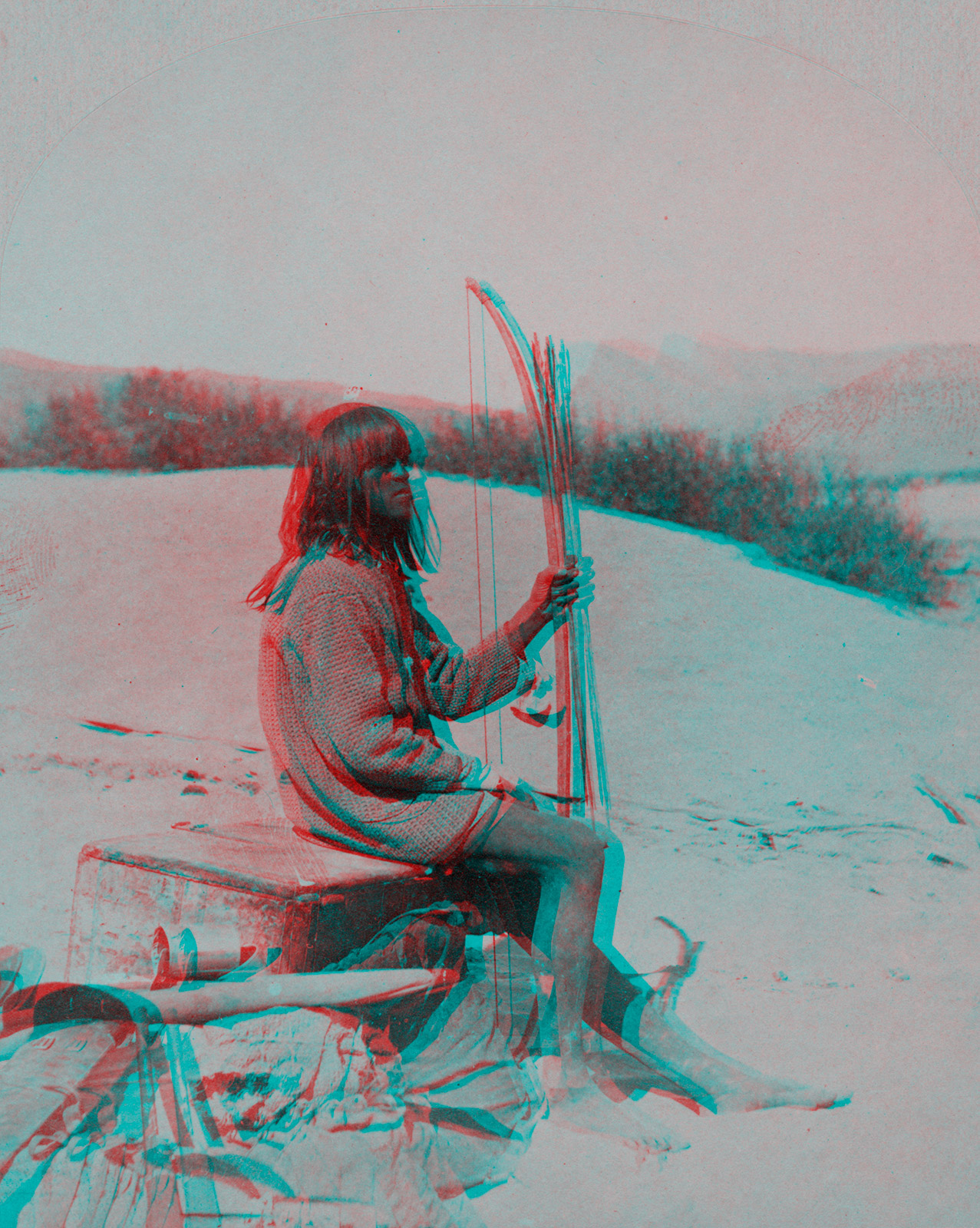 Indigenous Peoples' Day Anaglyph 2