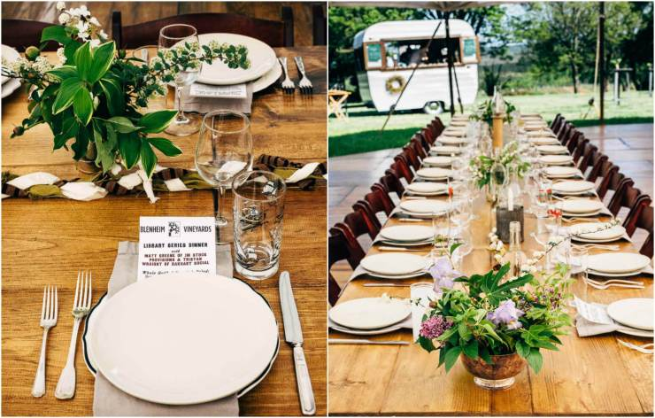 hill and holler library series dinner at blenheim vineyards // brooklyn supper
