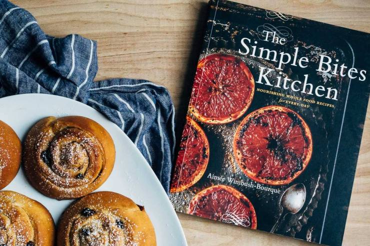 Stretchy, chewy overnight stollen swirl buns suffused with cardamom, cinnamon, and allspice, from Aimée Wimbush-Bourque's cookbook, The Simple Bites Kitchen.