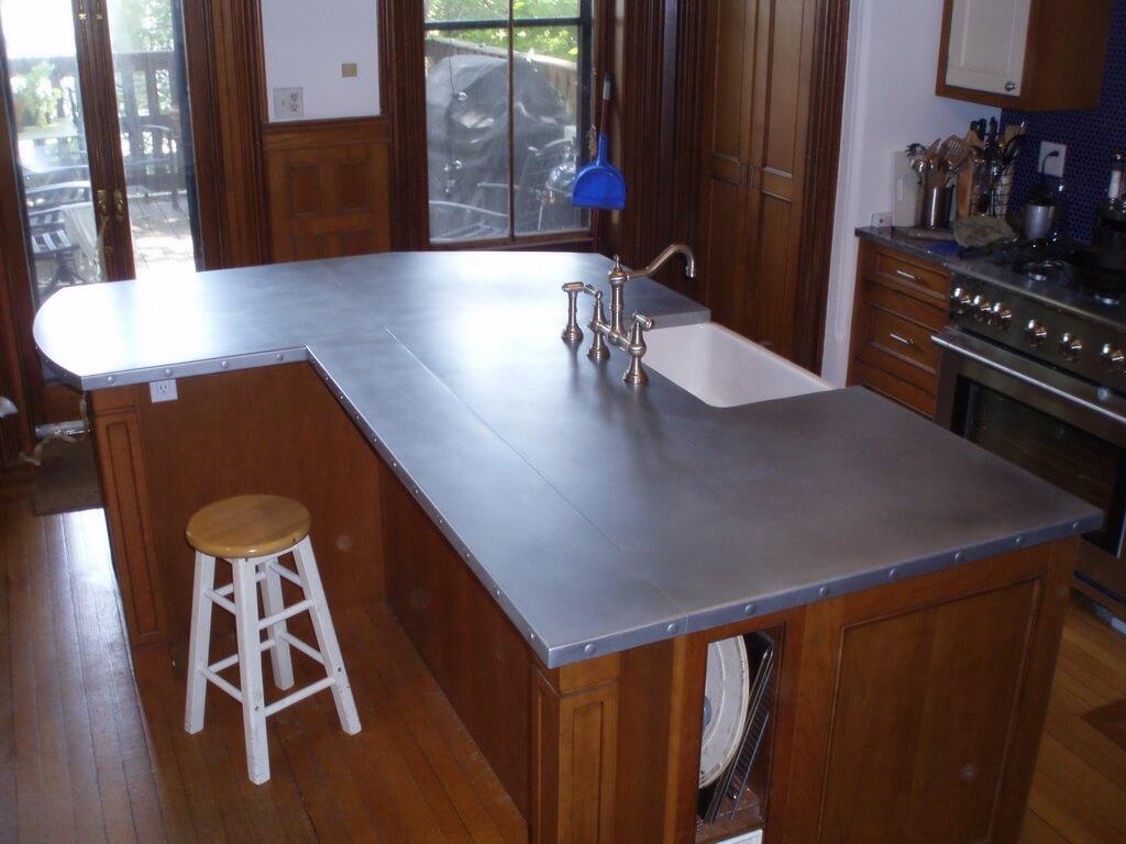 zinc countertops for a brand new kitchen zinc countertops new kitchen countertops on kitchen zinc id=26189