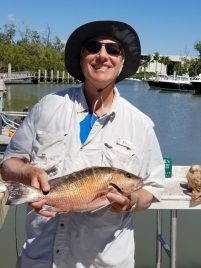 Phil Ferrara and his Mangrove Snapper