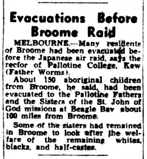 Evacuation Newspaper Article