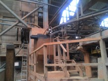 Wooden workings in the ore processing plant.