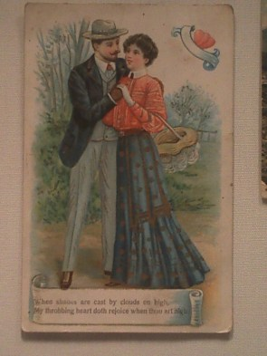 """Cornish romantic card, loses all romantic cred for using the word """"throbbing""""."""