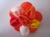 Bros Grosir Kain Cantik Bunga Silvi-Oranye