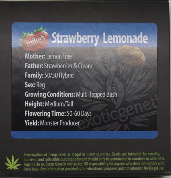 Exotic Genetix - Mike's Strawberry Lemonade (Reg M/F)