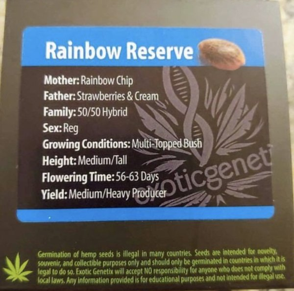Exotic Genetix - Rainbow Reserve (Reg M/F)