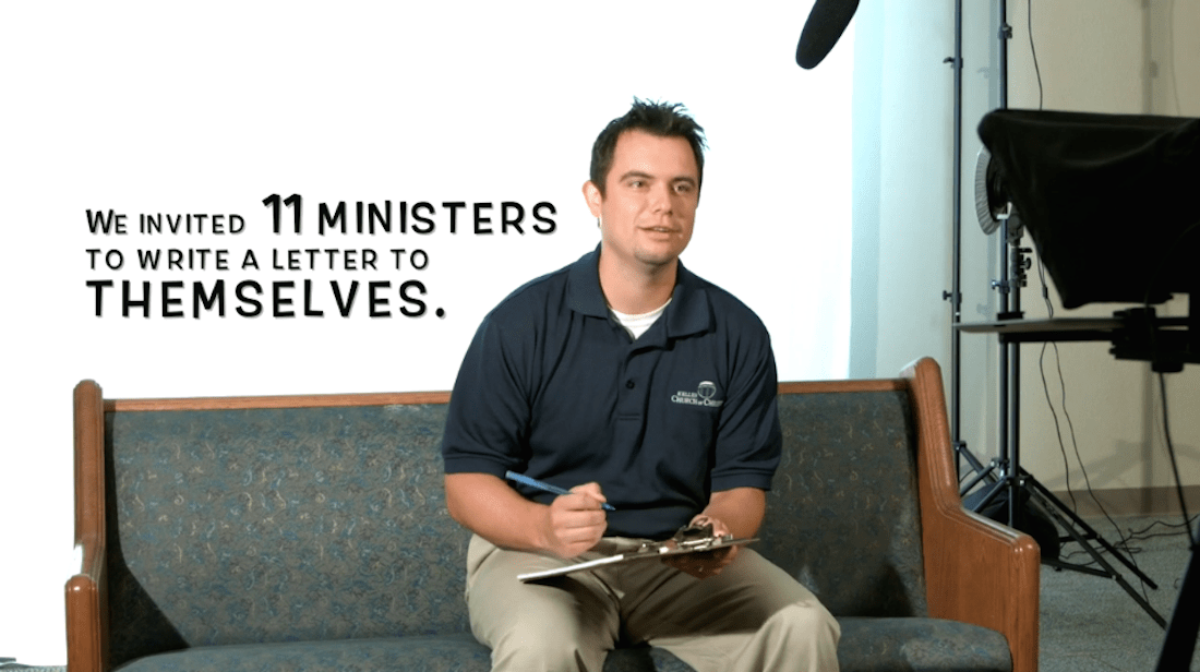 Video: 'A letter to me on my first day of ministry'