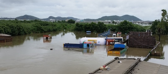 Christians lose belongings in flood
