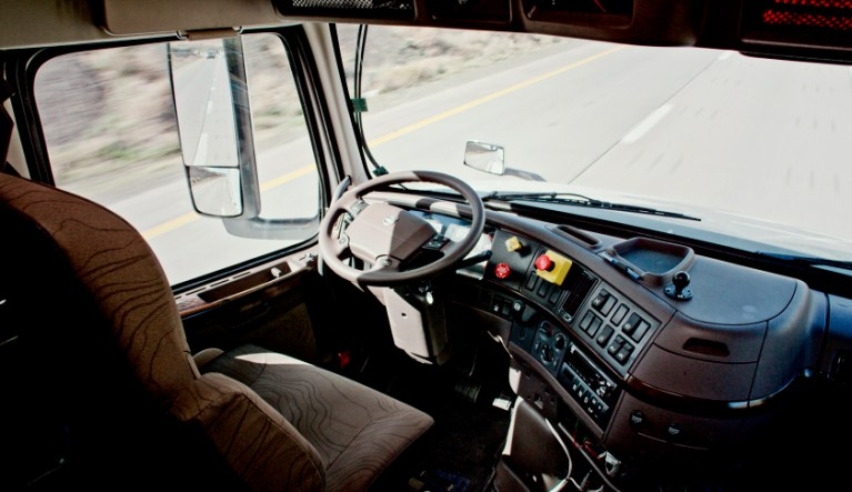 Driverless truck goes 120 miles. No life should go without God as pilot.