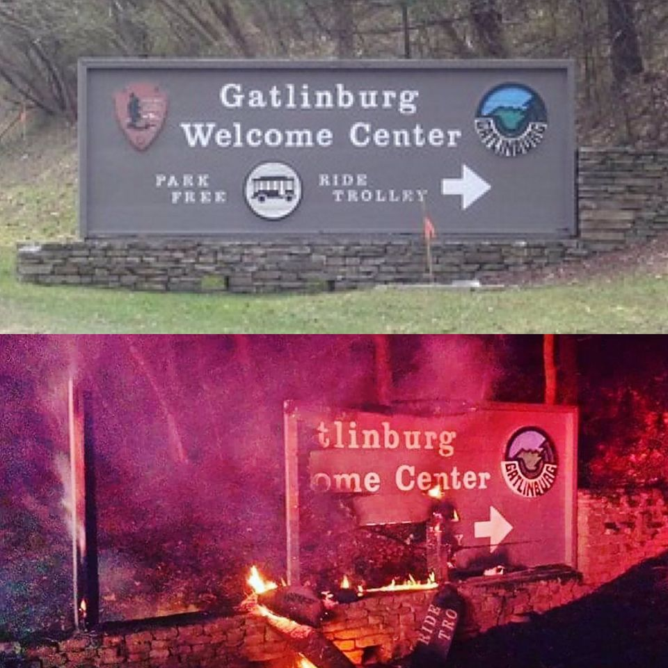 Gatlinburg on fire, saints lose homes, church loses building