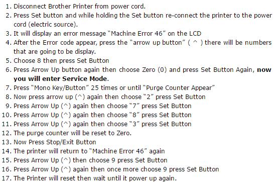 Brother MFC-J3520 Resetter Software Download