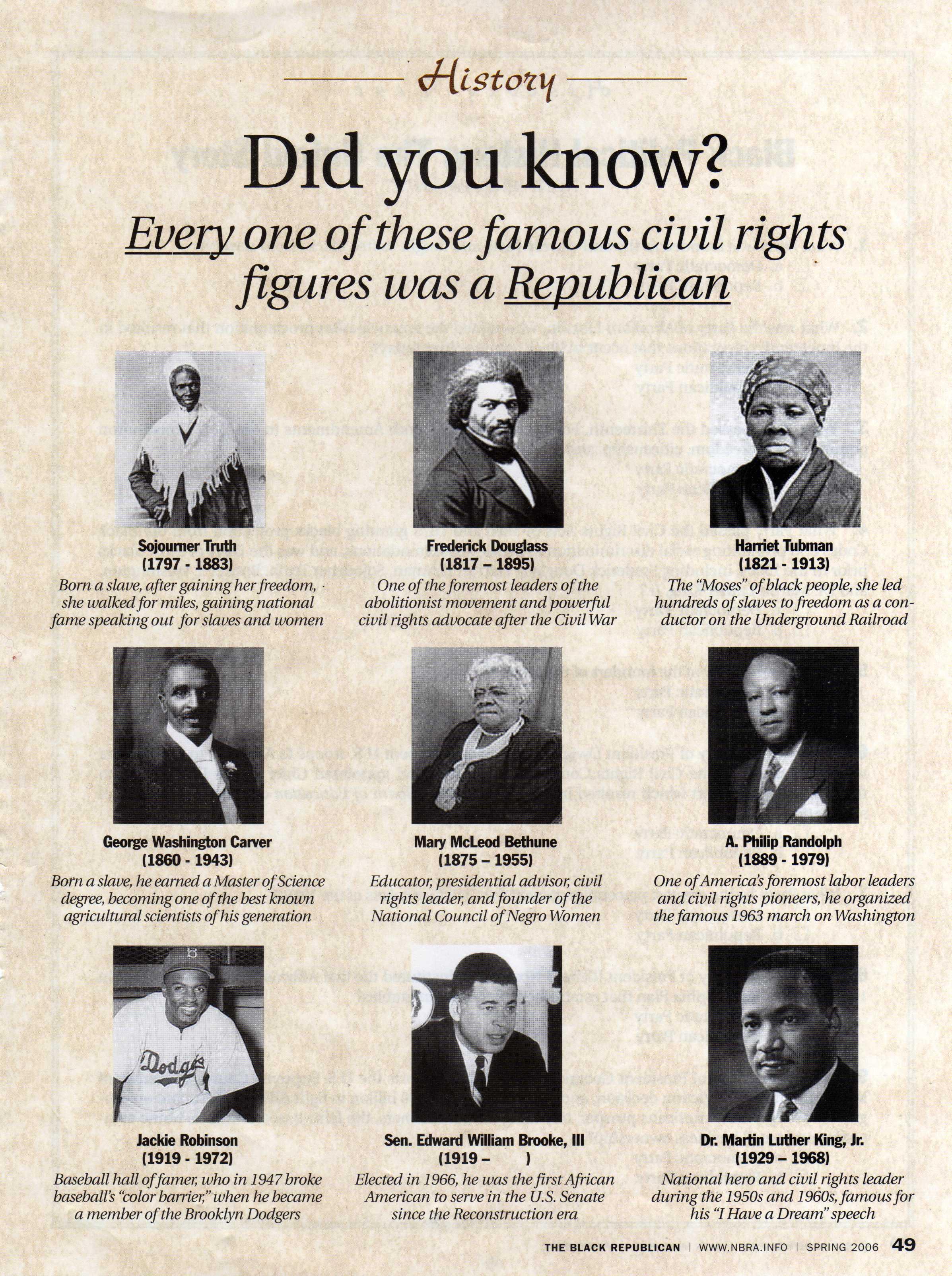 Famous Republican Civil Rights Leaders