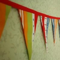 Гирлянды: флажки из ткани