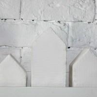 DIY. Белые домики из картона