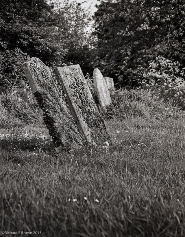 Grave in the Grass, Ilford HP5 Plus ISO400