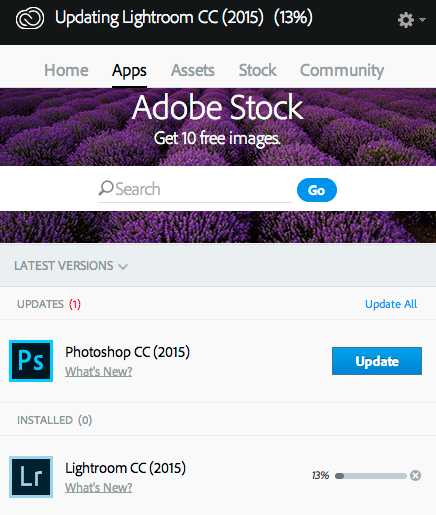 Adobe Upgrade
