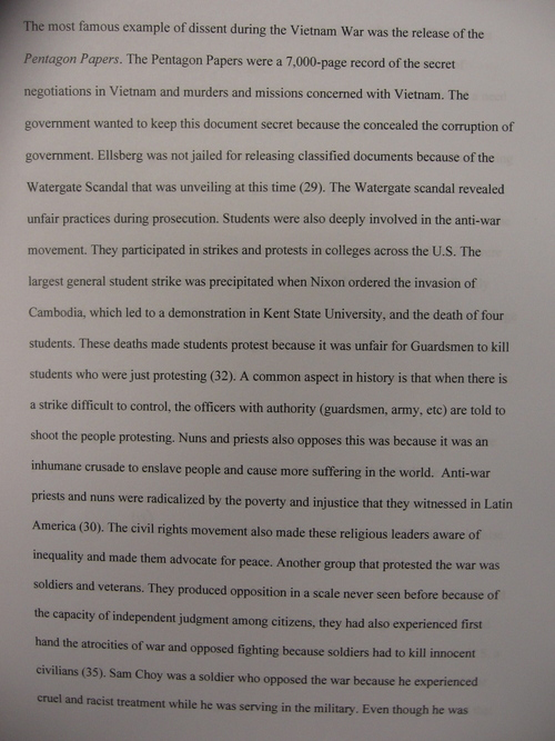 apush essay examples docoments ojazlink below please an example of a student essay on the vietnam war