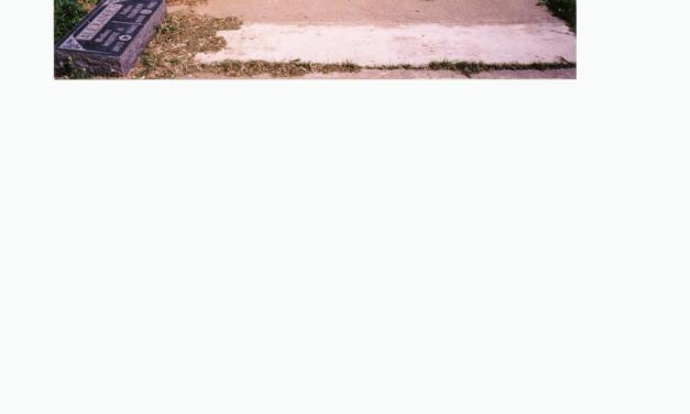 Allen Alexander Burial Plot and Headstones in Maxwell, California