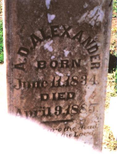 Anna Alexander Headstone