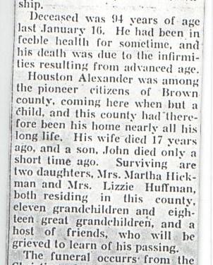 Obituary of Houston Alexander