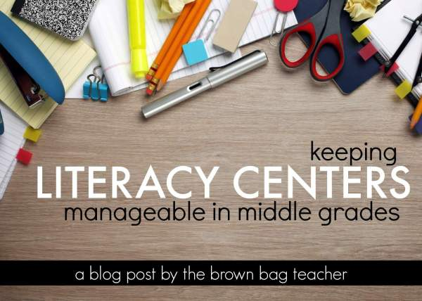Literacy Centers for BIG Kids! - The Brown Bag Teacher