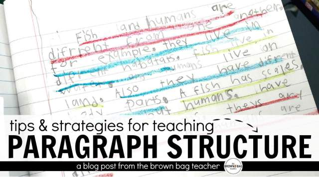 Paragraph Writing in 2222st and 22nd Grade - The Brown Bag Teacher