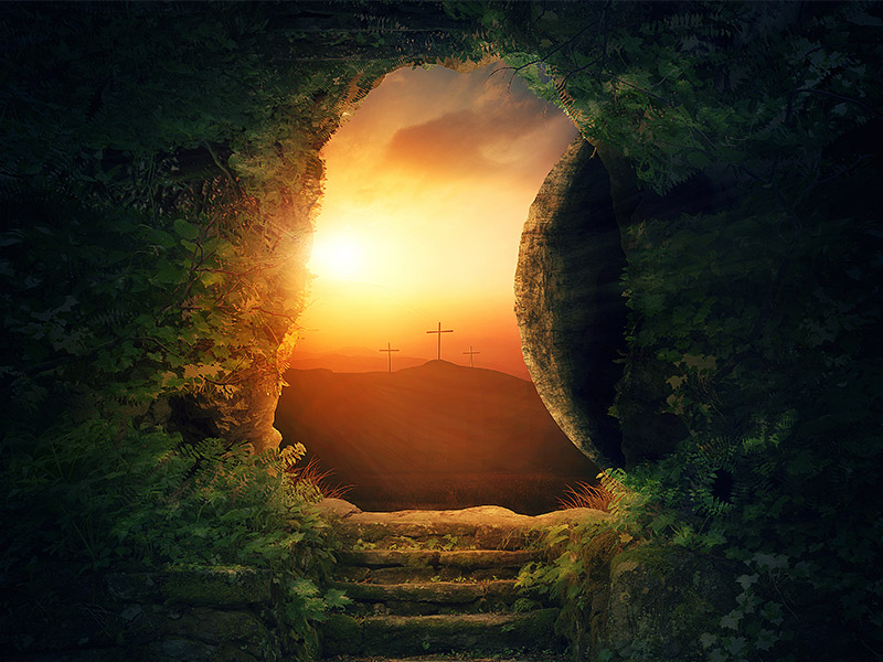 Image result for empty tomb he is risen