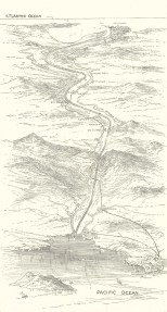 Sketch-Plan of the Panama Ship Canal, June 16, 1888, 666