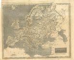 Map of Europe, London General Gazetteer, 1825